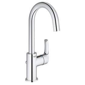 Photo of Grohe Eurosmart Tall Basin Mixer with Side Lever Inc Waste