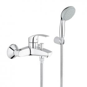 Grohe Eurosmart Wall Mounted Bath Shower Mixer with Handset