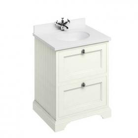 Burlington Sand 650mm Freestanding Vanity Unit with Drawers & Worktop
