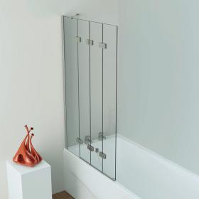 Kudos Inspire 4 Panel Compact In Fold Bath Screen