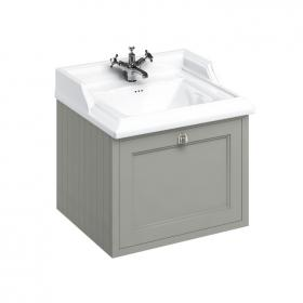 Burlington 650mm Olive Wall Hung Vanity Unit & Classic Basin