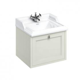 Burlington 650mm Sand Wall Hung Vanity Unit & Classic Basin