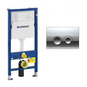 Photo of Geberit Duofix 1120mm Wall Hung Cistern Frame & Delta21 Flush Plate