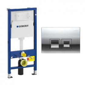 Photo of Geberit Duofix 1120mm Wall Hung Cistern Frame & Delta50 Flush Plate