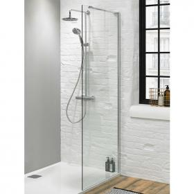 Walk In Shower Glass Panel - Size: 760mm