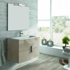 Frontline Grandeur Gloss Taupe 1000mm Vanity Unit & Basin