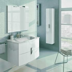 Frontline Grandeur Gloss White 800mm Vanity Unit & Basin