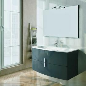 Frontline Grandeur Gloss Grey 1000mm Vanity Unit & Basin