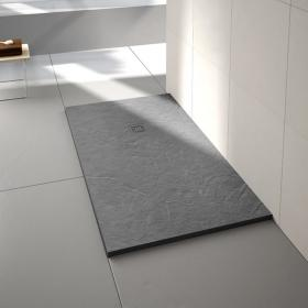 Merlyn Truestone Fossil Grey 1400 x 800mm Rectangular Shower Tray & Waste