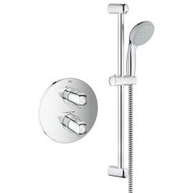 Grohtherm 1000 New Concealed Shower Valve & Rail