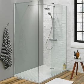 Summit 1600 x 800mm Walk In Shower with Return Panel & Tray