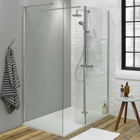 Summit 1400 x 900mm Walk In Shower with Return Panel & Tray