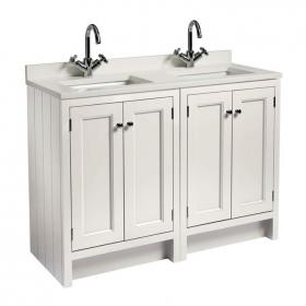 Photo of Roper Rhodes Hampton 1200mm Chalk White Underslung Vanity Unit with Basin & Worktop