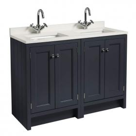 Photo of Roper Rhodes Hampton 1200mm Slate Grey Underslung Vanity Unit with Basin & Worktop