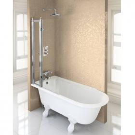 Burlington Hampton 1500 Freestanding Shower Bath - Left Hand