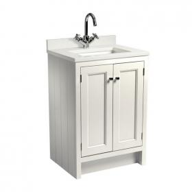 Roper Rhodes Hampton 600mm Chalk White Underslung Vanity Unit with Basin & Worktop