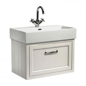 Roper Rhodes Hampton 700mm Chalk White Wall Hung Vanity Unit and Basin