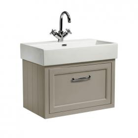 Roper Rhodes Hampton 700mm Mocha Wall Hung Vanity Unit and Basin