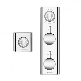 Aqualisa HiQu Concealed Dual Outlet Bath/Shower Valve with Remote Control