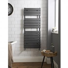 Photo of Hudson Reed Flat Panel Anthracite Heated Towel Rail
