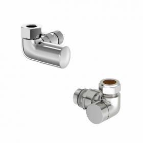 Mere Hugo2 Chrome Angle Radiator Valves (Pair)