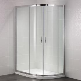 April Identiti Double Door Offset Quadrant Shower Enclosure