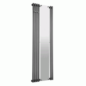 Radox Image D  Stainless Steel Radiator With Offset Mirror