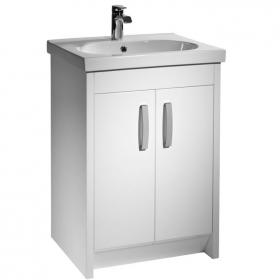 Tavistock Impact White 600mm Floorstanding Vanity Unit