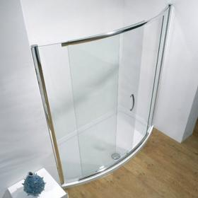 Kudos Infinite 1500mm Bowed Sliding Shower Door & Shower Tray