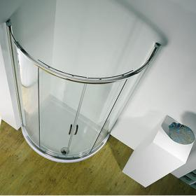 Kudos Infinite 910mm Curved Sliding Door & Shower Tray