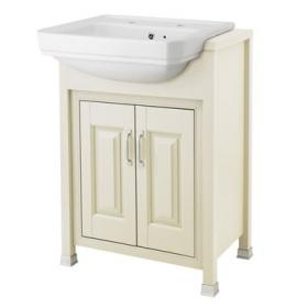 Old London Ivory 600mm Semi Recessed Basin & Vanity Unit