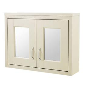 Old London Ivory 800mm Mirror Cabinet