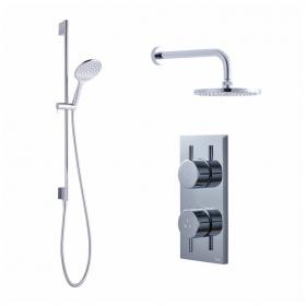 Crosswater Kai Dual Outlet Digital Shower Valve with Head and Shower Kit - Low Pressure