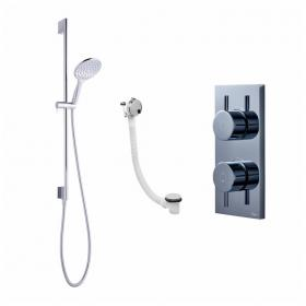 Crosswater Kai Dual Outlet Digital Bath / Shower Valve with Svelte Shower and Bath Filler - High Pressure