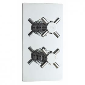 Hudson Reed Tec Crosshead Twin Concealed Shower Valve