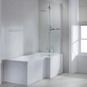 Sommer L Shaped 1700mm Shower Bath