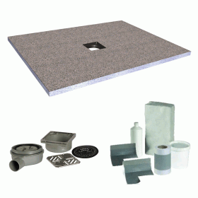 Simpsons 1200 x 900mm Level Access 30mm Wetroom Tray inc Install Kit