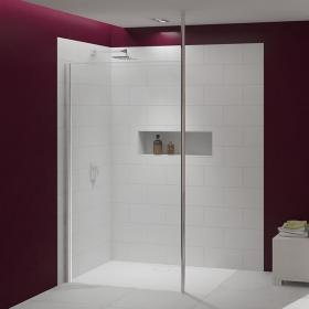 Photo of Merlyn 8 Series Shower Wall with Vertical Post