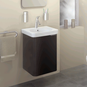 Vitra Designer Nest Anthracite 450mm Cloakroom Unit & Basin