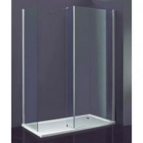 Indi 1680 x 760 Walk In Shower Enclosure & Tray