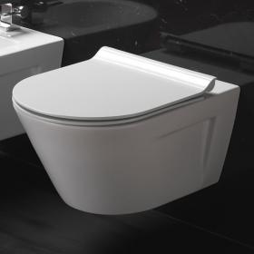 GSI Norm Rimless 55 Wall Hung WC & Soft Close Seat