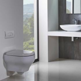 GSI Pura 50 Wall Hung Toilet With Slim Soft Close Seat Sanctuary Bathrooms