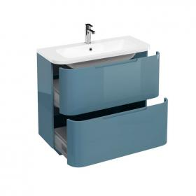 Aqua Cabinets Compact Ocean 900mm Two Drawer Vanity Unit & Basin