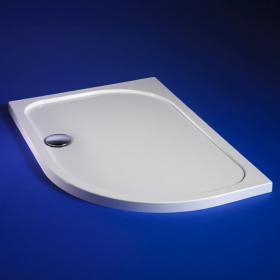 Blu-Gem2 900 x 760 Offset Quadrant Shower Tray & Waste