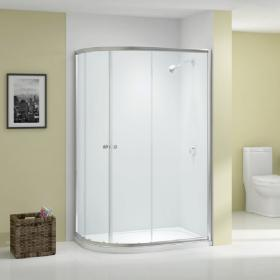 Ionic by Merlyn Source 6mm Twin Door Offset Quadrant Shower Door