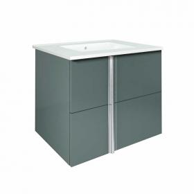 Frontline Onix Gloss Grey 600mm Wall Mounted Unit & Basin