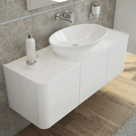 Vitra Designer Options 600mm Geo Ellipse Countertop Basin