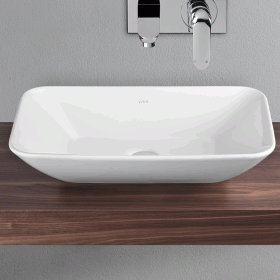 Vitra Designer Options 600mm Geo Rectangular Countertop Basin