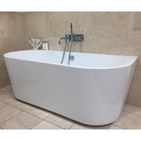 Oxford 1640 Contemporary Back to Wall Freestanding Bath
