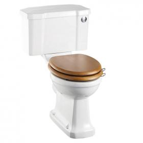 Burlington Close Coupled Toilet With Push Button
